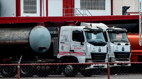 Tanker trucks are seen in Maracaibo, Venezuela on March 15, 2019.