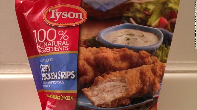 Tyson recalls additional 11.7 million pounds of chicken strips