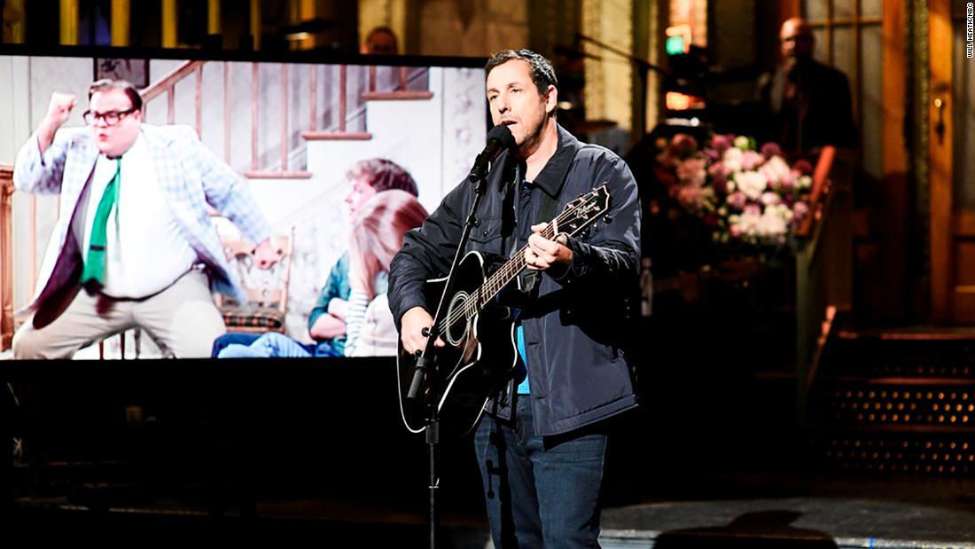 Adam Sandler's tribute to Chris Farley on 'SNL' made us all emotional - CNN