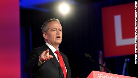 Labor Opposition leader Bill Shorten speaks during the Labor Campaign Launch on May 5, 2019 in Brisbane, Australia.
