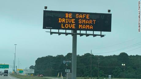 "Another TxDOT sign inspired by ""The Waterboy."""