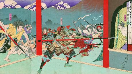 "Nobunaga Oda was forced to commit ""harakiri"", a form of Japanese ritual suicide by disembowelment after his defeat in the Battle of Honno-ji."