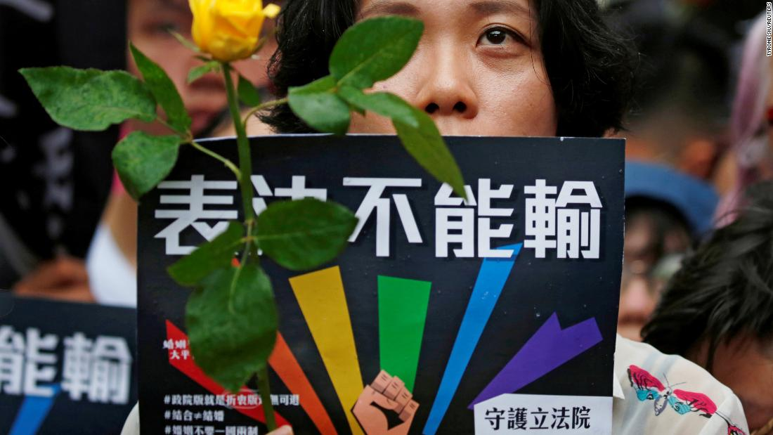 In landmark first for Asia, Taiwan's parliament approves same-sex marriage