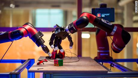 Some of Facebook's robots are learning to move and grab objects.