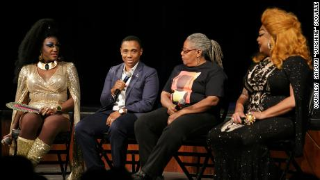 A panel discussion was part of the Pride and Liberation Event.