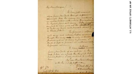 The full text of the letter of Alexander Hamilton to the Marquis de Lafayette dated July 21, 1780.