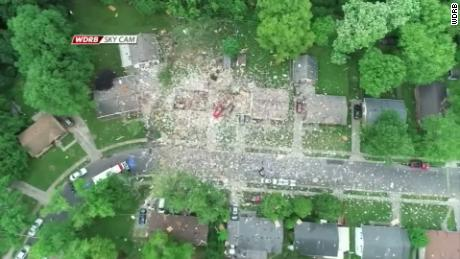 Person killed and wreckage scattered across street as house explodes in Indiana