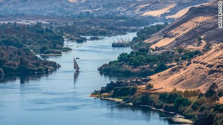 The Nile -- seen here at Aswan in Egypt -- flows for more than 4,100 miles, through 11 countries, and out into the Mediterranean Sea.