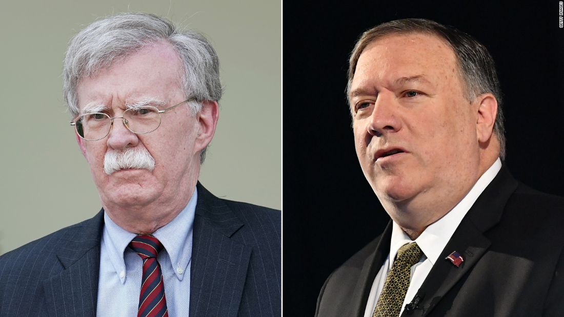 Tensions rise between Pompeo and Bolton - CNNPolitics