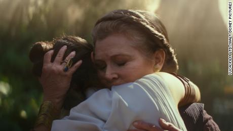 Carrie Fisher and Daisy Ridley in 'Star Wars: The Rise of Skywalker.'