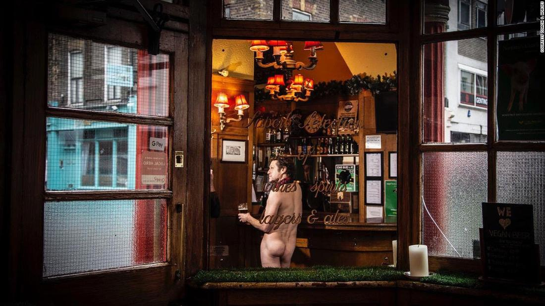 Sip a pint while naked at this London pub