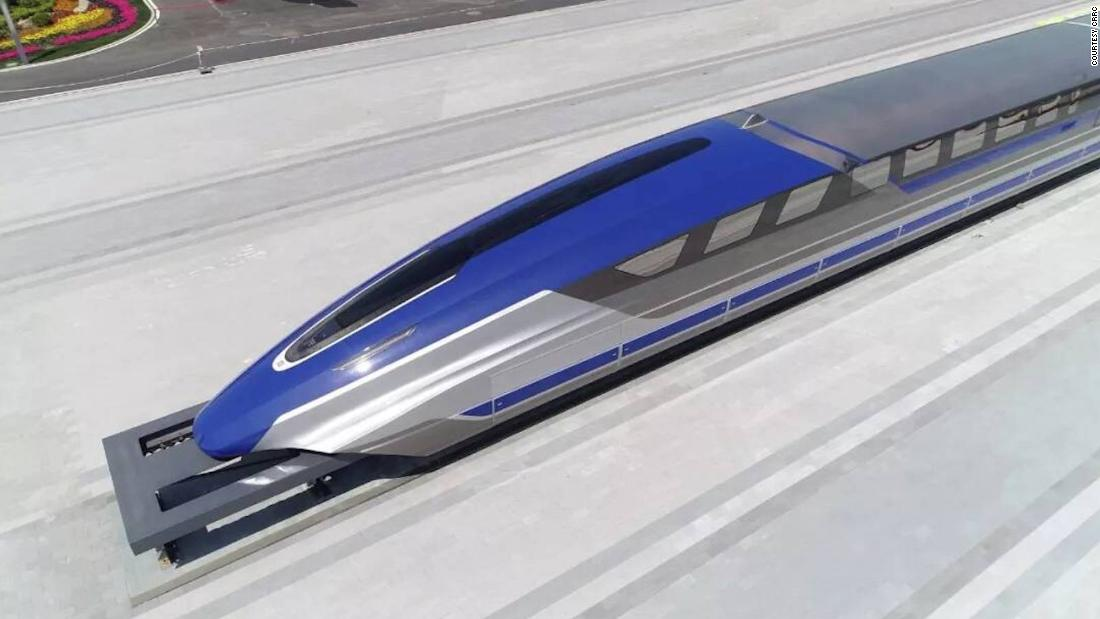 China unveils 600km/h maglev train prototype