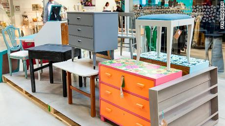 The ReTuna shopping mall saves items from landfill each week.