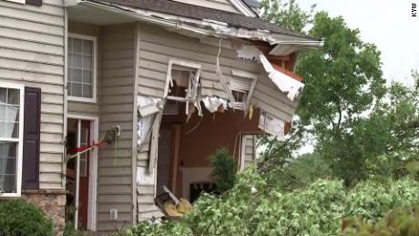Houses near Morgantown suffered heavy damage