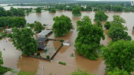 L'Oklahoma a été particulièrement touché par les inondations.