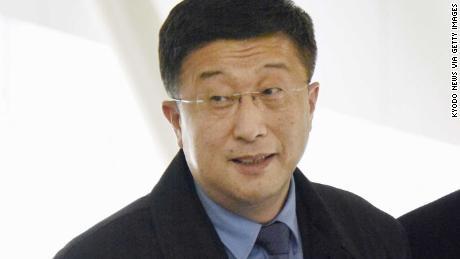 Kim Hyok Chol est photographiée à l'aéroport international de Beijing le 19 février 2019.