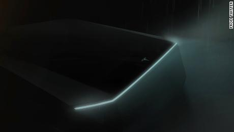 "In March, Tesla released this ""teaser"" image showing the front end of the truck."