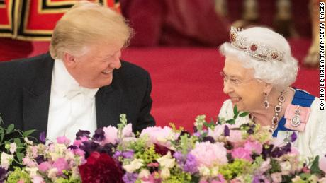 Trump's surreal royal visit turns from pomp to politics