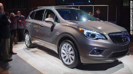 The Buick Envision on display at the Detroit Auto Show.