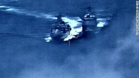 U.S. cruiser impeded Russian warship's passage in East China Sea