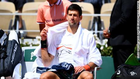 Novak Djokovic s'est affronté avec l'arbitre de chaise Jaume Campistol.