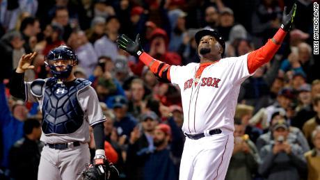 L'ancien frappeur des Red Sox de Boston, David Ortiz