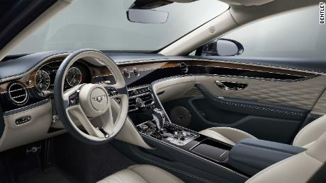 Bentley Flying Spur buyers can choose from among 15 different leather colors for the interior.