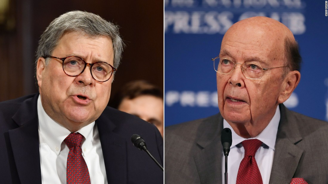 House votes to hold Barr, Ross in criminal contempt over census dispute - CNNPolitics