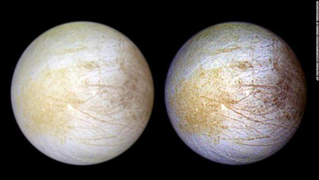Jupiter's watery moon, Europa, is covered in table salt