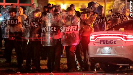 Memphis protests over police shooting end with teargas and dozens injured