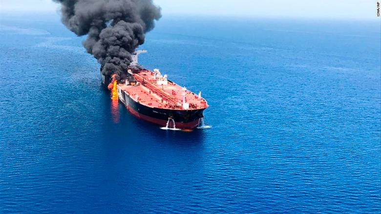 Source Before tanker attack Iran fired at U.S. drone