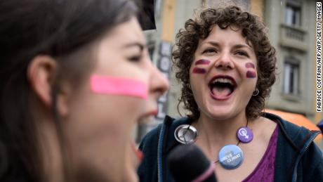 Women across Switzerland are on strike. They're protesting the gender pay gap