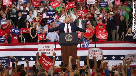 U.S. President Donald Trump speaks during his rally where he announced his candidacy for a second presidential term at the Amway Center on June 18, 2019 in Orlando, Florida.