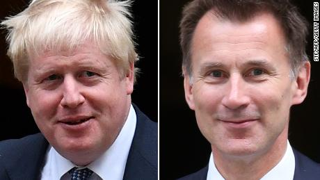 Britain's Foreign Secretary Jeremy Hunt (right) has criticized Boris Johnson (left) for evading questions.