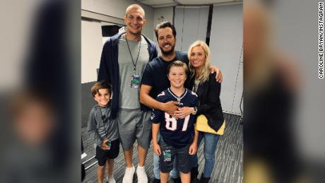 Rob Gronkowski caught one more pass in Gillette Stadium, this time from Luke Bryan