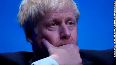 Boris Johnson attends the first leadership hustings on Saturday in Birmingham.