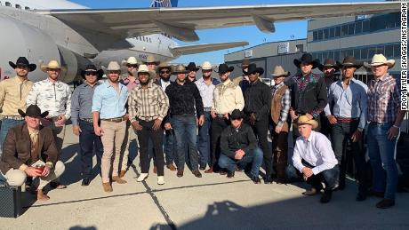 Tyler Skaggs posted this photograph after the team arrived in Texas.