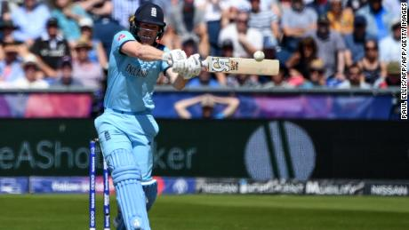England's captain Eoin Morgan led his side to victory at Durham.