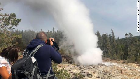 Yellowstone's Steamboat Geyser, the world's tallest, erupted a record number of times this year