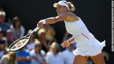 Angelique Kerber suffered a shock defeat to Lauren Davis.
