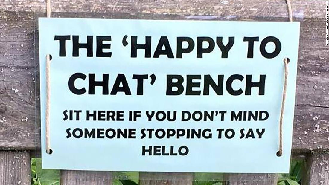 Police are tackling elderly isolation with benches created to get strangers to chat - CNN
