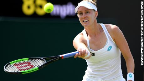 Alison Riske of the United States beat world No.1 Ash Barty in the fourth-round at Wimbledon.