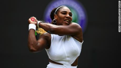 Serena Williams is through to the quarter finals of Wimbledon.