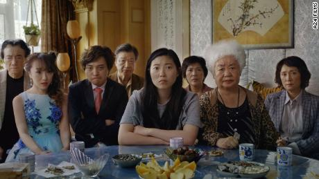 Awkwafina (center) in 'The Farewell'