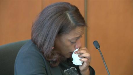 La mère de Lee Manuel Villoria-Paulino a pleuré en s'adressant au juge lors de la condamnation de Mathew Borges mardi.