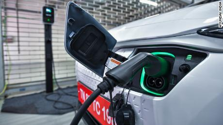 Hyundai is setting up a network of fast chargers in four Indian cities for its electric SUV.