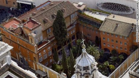 The Teutonic Cemetery in Vatican City where two tombs were exhumed Thursday.