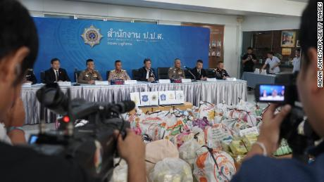 On June 5, Thai drug authorities held a press conference to announce their seizure of 1.5 tonnes of crystal meth.