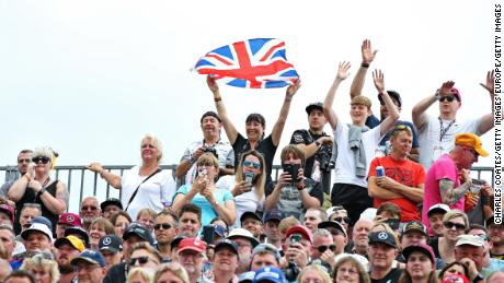 More than 141,000 fans were at Silverstone to watch Hamilton make history.