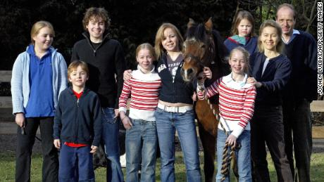 Ursula von der Leyen, who trained as a physician before going into politics, pictured with her husband and seven children in 2005.